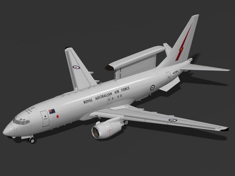 b 737-7es aew c 3d model