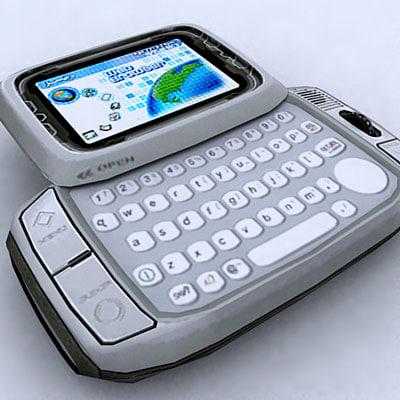 t-mobile hiptop mobile 3d model