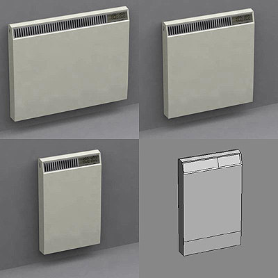3d model of radiators