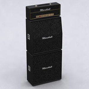3d max marshall amplifier speaker