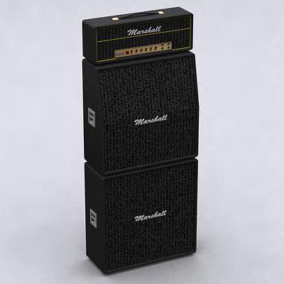 3d max marshall amplifier speaker
