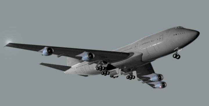 747 landing 3d lwo