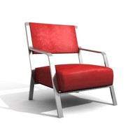 3d model of furniture armchair