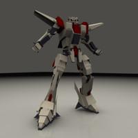 3d mech gundam japanese model