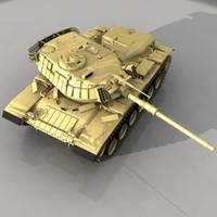 3d model tank patton