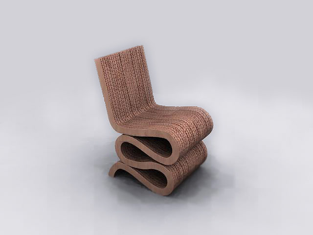 3d frank ghery wiggle chair model