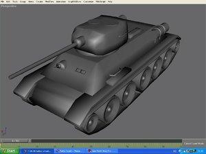3d model tank t-34 85