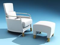 3ds max armchair giorgetti
