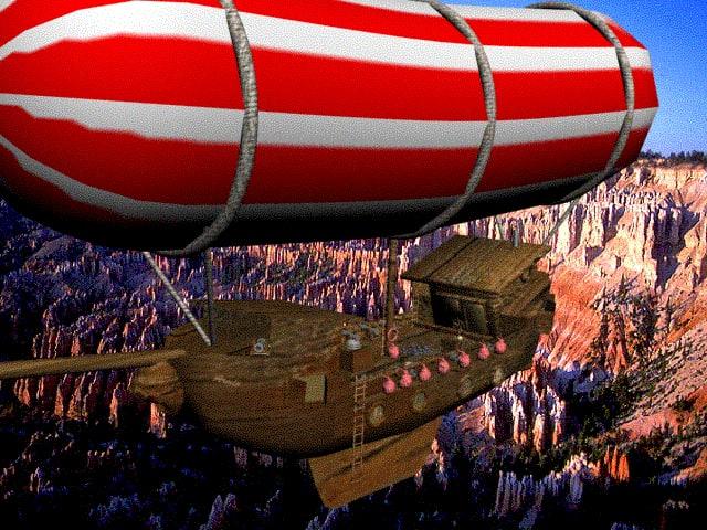 flying ship 3d model