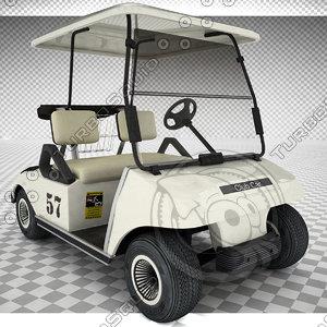 cart golfcart 3d model