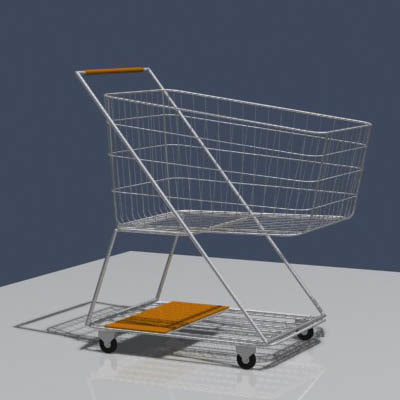 3d model shopping trolley cart