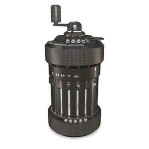 3d model curta mechanical calculator