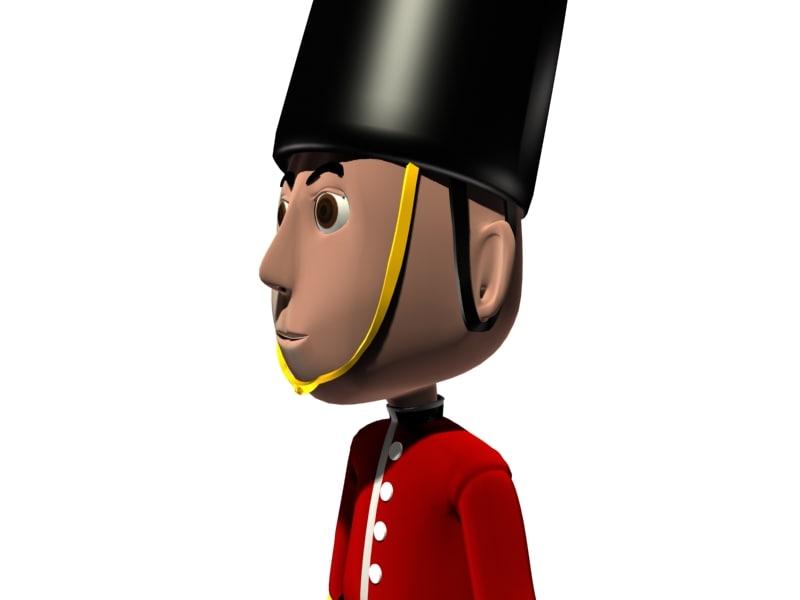 little british royal 3d model