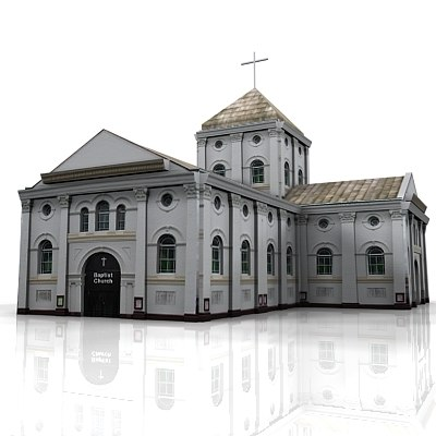 church cathedral 3d max