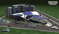 scene hotel building 3d model