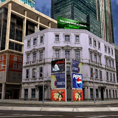 city urban 3d 3ds