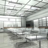 maternity hospital ward 3d model