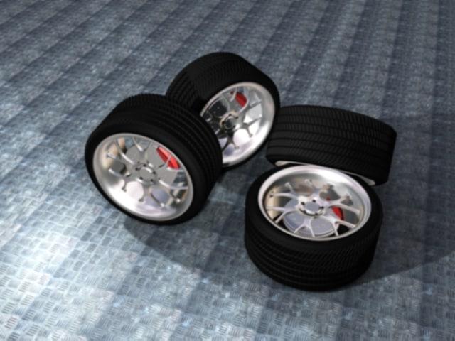 wheels tyre 3d max