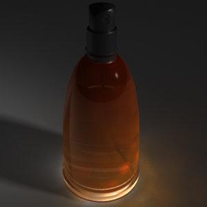 3d bottle fahrenheit model