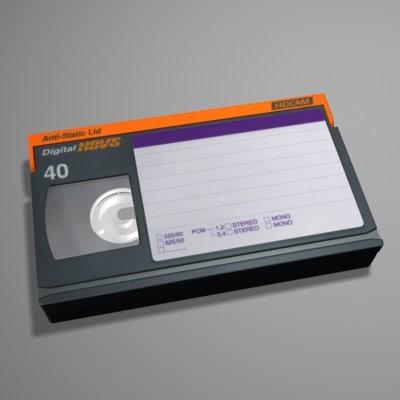 3d model hdtv video tape