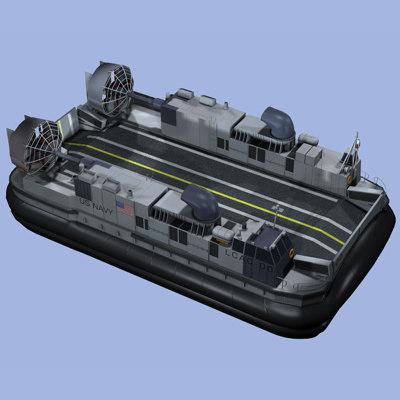 lcac navy hovercraft 3d model