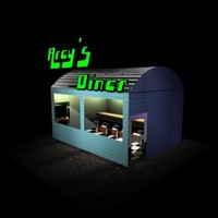 3dsmax diner cafe coffee