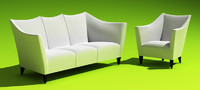 couch armchair art 3d max