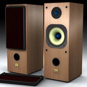 hifi speaker 3d model