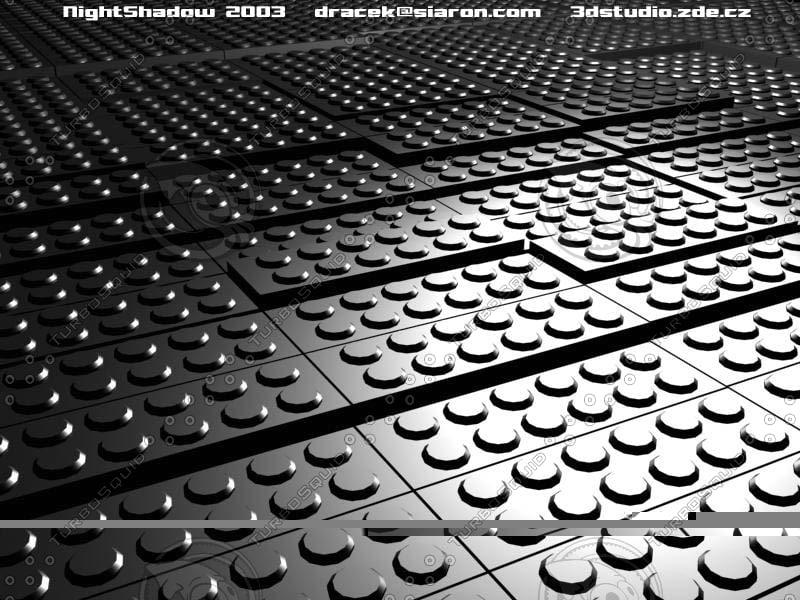 3d model of box bricks