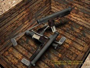 czech machinegun 3d model