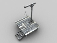 3d model gallows
