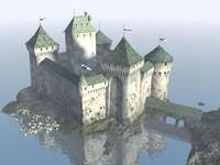 medievil castle 3d model