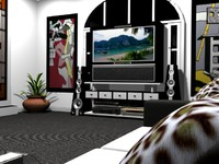 3ds max tv room