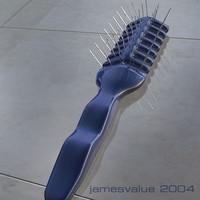 free hairbrush 3d model
