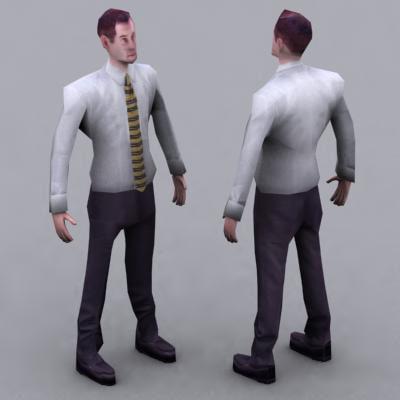 3ds max human character shirt