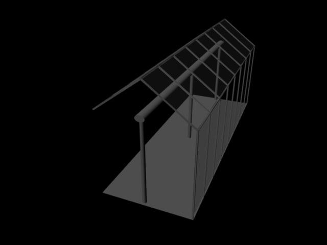 3d model greenhouse segment