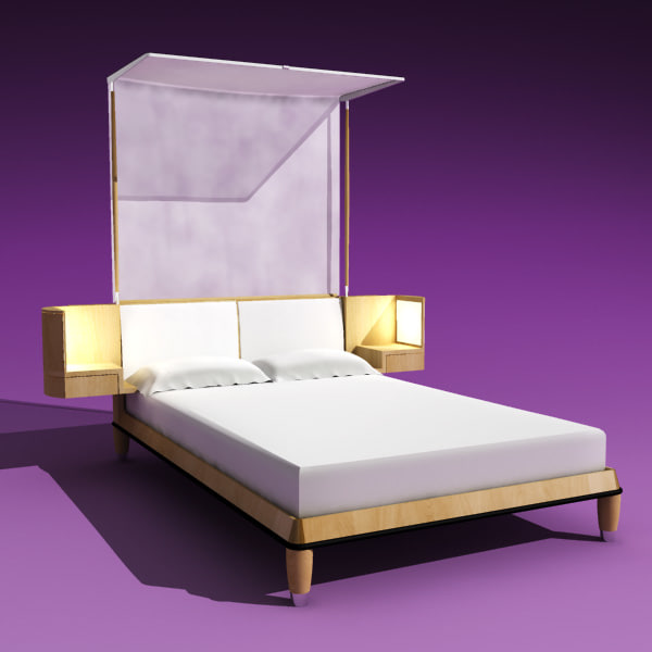 bed giorgetti 3d model