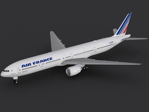 b 777-300 er air france 3d model