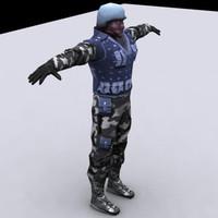 3d male swat
