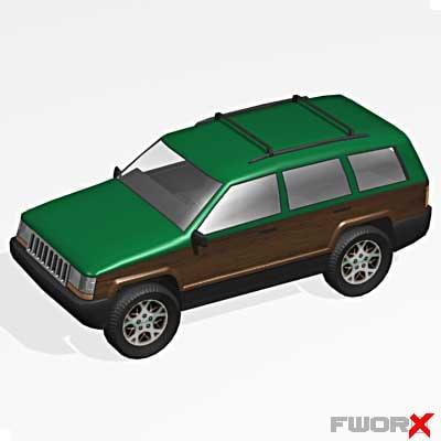jeep wagoneer 3d max