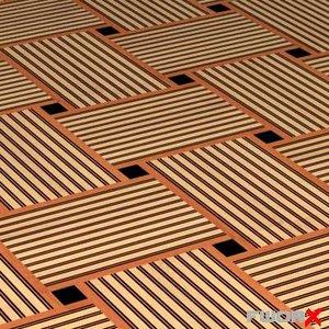 3d floor tile mat