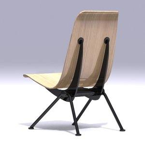 3d model jean prouvé anthony chair