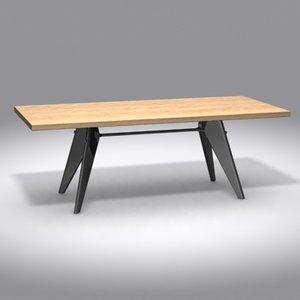 3d model table em jean