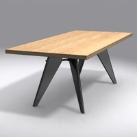 3ds max table em jean