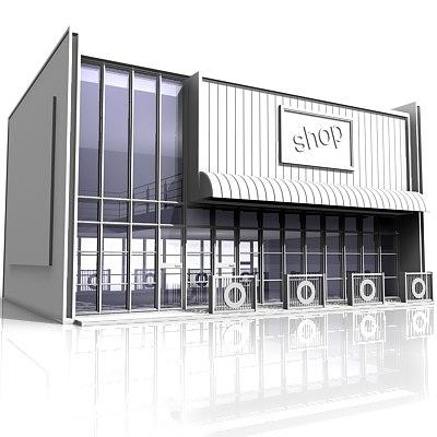 retail shop 3d model