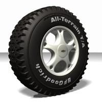 wheel tire 3d lwo