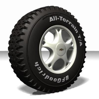 wheel tire 3d lwo