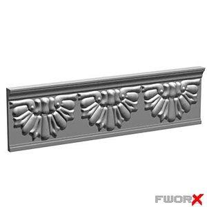 3d model decorative plate architectural