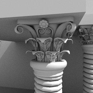 3d corithian columns model