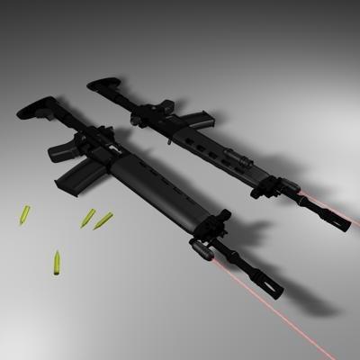 3ds max tactical sig special commando rifle